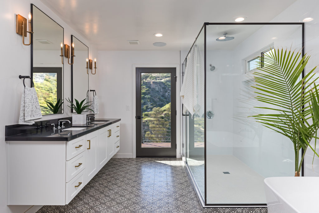 modern and clean bathroom